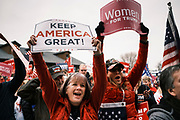 "06 DECEMBER 2020 - DES MOINES, IOWA: Supporters of Donald Trump cheer during a rally protesting the outcome of the US election. About 1,000 supporters of outgoing US President Donald Trump rallied in Des Moines Sunday to show their support for the President and to protest the outcome of the US Presidential election. They started with a rally in the suburbs of Des Moines then drove in a motorcade through the city, ending at the State Capitol. They repeated many of Trump's discredited claims that the election was marked by fraud and that Trump actually won. The protest was a part of the national ""March for Trump"" effort, culminating in a march in Washington DC on December 13. Joe Biden won the election, with 306 electoral votes to Trump's 232.      PHOTO BY JACK KURTZ"