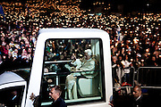 Pope Benedict XVI leaves Cova de Iria where hundreds of thousand of people prayed with him. Fatima, a holy site for Christians where is believed that Holy Mary appeared to three shepherd children. Pope John Paul II attributes to Holy Mary of Fatima responsibility for the miracle of his salvation from the assassination atempt  he suffered in 1981 in San Peters Square in Italy. Pope Benedict is on a four-day visit to Portugal, one of the countries with the highest percentage of Catholics in Europe, Fatima, Portugal. , in Fatima, a holy site for Christians where is believed that Holy Mary appeared to three shepherd children. Pope John Paul II attributes to Holy Mary of Fatima responsibility for the miracle of his salvation from the assassination atempt  he suffered in 1981 in San Peters Square in Italy. Pope Benedict is on a four-day visit to Portugal, one of the countries with the highest percentage of Catholics in Europe, Fatima, Portugal. . Fatima, a holy site for Christians where is believed that Holy Mary appeared to three shepherd children. Pope John Paul II attributes to Holy Mary of Fatima responsibility for the miracle of his salvation from the assassination atempt  he suffered in 1981 in San Peters Square in Italy. Pope Benedict is on a four-day visit to Portugal, one of the countries with the highest percentage of Catholics in Europe, Fatima, Portugal. , in Fatima, a holy site for Christians where is believed that Holy Mary appeared to three shepherd children. Pope John Paul II attributes to Holy Mary of Fatima responsibility for the miracle of his salvation from the assassination atempt  he suffered in 1981 in San Peters Square in Italy. Pope Benedict is on a four-day visit to Portugal, one of the countries with the highest percentage of Catholics in Europe, Fatima, Portugal.