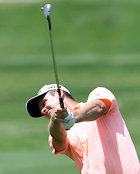 May 26, 2018 - Fort Worth, TX, USA - Justin Rose hits his second shot from the 9th hole fairway during the third round of the Fort Worth Invitational PGA tournament Saturday May 26, 2018 at the Colonial Country Club Saturday May 26, 2018 in Fort Worth, Texas. (Credit Image: © Bob Booth/TNS via ZUMA Wire)