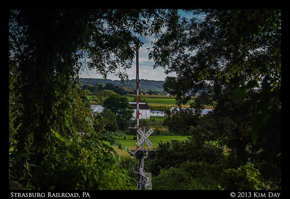 Railroad Crossing<br /> Strasburg Railroad, PA<br /> August 2013