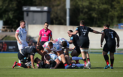 Exeter Chiefs defend the ball - Mandatory by-line: Arron Gent/JMP - 13/09/2020 - RUGBY - Allianz Park - London, England - Saracens v Exeter Chiefs - Gallagher Premiership Rugby