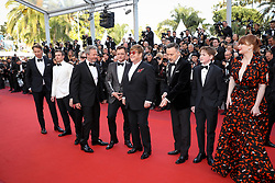 Bernie Taupin, Bryce Dallas Howard, Kit Connor, David Furnish, Sir Elton John, Taron Egerton, Director Dexter Fletcher, Richard Madden, Adam Bohling and Giles Martin attend the screening of Rocket Man during the 72nd annual Cannes Film Festival on May 16, 2019 in Cannes, France. Photo by Shootpix/ABACAPRESS.COM