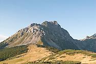Komovi mountains, Montenegro. Komovi is a compact group of mountains near the Albanian border, and are popular for hiking. Pictured here (left to right), Kom Vasojevicki, Kom Ljevorijecki and Kom Kucki. © Rudolf Abraham