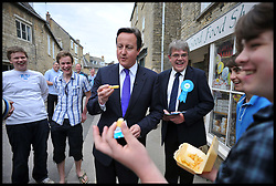 The Prime Minister David Cameron out canvassing for the NO to AV Campaign in Chipping Norton, Oxfordshire, UK, Friday April 15, 2011. Photo By Andrew Parsons / i-Images.