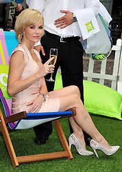 © licensed to London News Pictures. LONDON UK  17/06/11. Amanda Holden celebrates 'Summer in the City' with All Seasons Hotels in Covent Garden, London. Please see special instructions for usage rates. Photo credit should read ALAN ROXBOROUGH/LNP