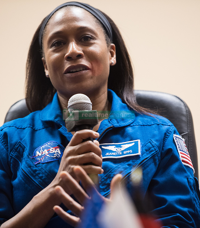 Expedition 54 backup crew member Jeanette Epps of NASA answers a question during a press conference, Saturday, December 16, 2017 at the Cosmonaut Hotel in Baikonur, Kazakhstan. Expedition 54 prime crew members Soyuz Commander Anton Shkaplerov of Roscosmos, flight engineer Scott Tingle of NASA, and flight engineer Norishige Kanai of Japan Aerospace Exploration Agency (JAXA) are scheduled to launch to the International Space Station aboard the Soyuz spacecraft from the Baikonur Cosmodrome on December 17. Photo by Joel Kowsky / NASA via CNP/ABACAPRESS.COM