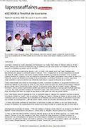 """Robert Gagnon, président du conseil de l'institut Touristique et hotelier du Quebec ITHQ, en présence du chef invité Olivier Rollinger, annonce les bénéfices de 432000$ recueillis lors de la soirée """" Les Grands Chefs Relais et Chateaux """" au profit de la fondation ITHQ  Photographies de Marc Gibert publiées . Marc Gibert photographs published. à  La Presse Affaires - Cyberpresse.ca / Montreal / Canada / 2012-06-09, © Photo © Marc Gibert / adecom.ca"""