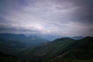 Mountainous landscape of Yen Minh District, between Quan Ba and Dong Van in Ha Giang Province, Vietnam, Southeast Asia