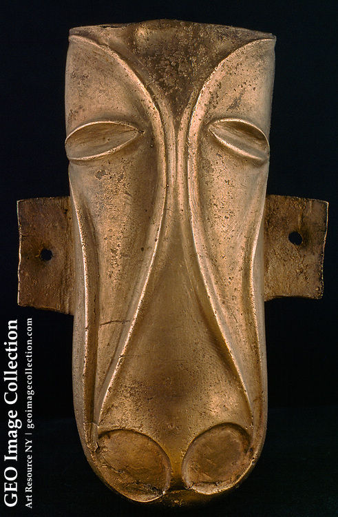A four-inch bronze Celtic ornament from England.