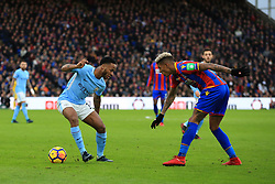 31 December 2017 -  Premier League - Crystal Palace v Manchester City -  Raheem Sterling of Manchester City takes on. Patrick van Aanholt of Crystal Palace - Photo: Marc Atkins/Offside