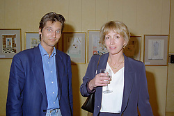 LORD & LADY EDWARD SOMERSET, he is the son of the Duke of Beaufort, at a party in London on 7th May 1998.MHK 6