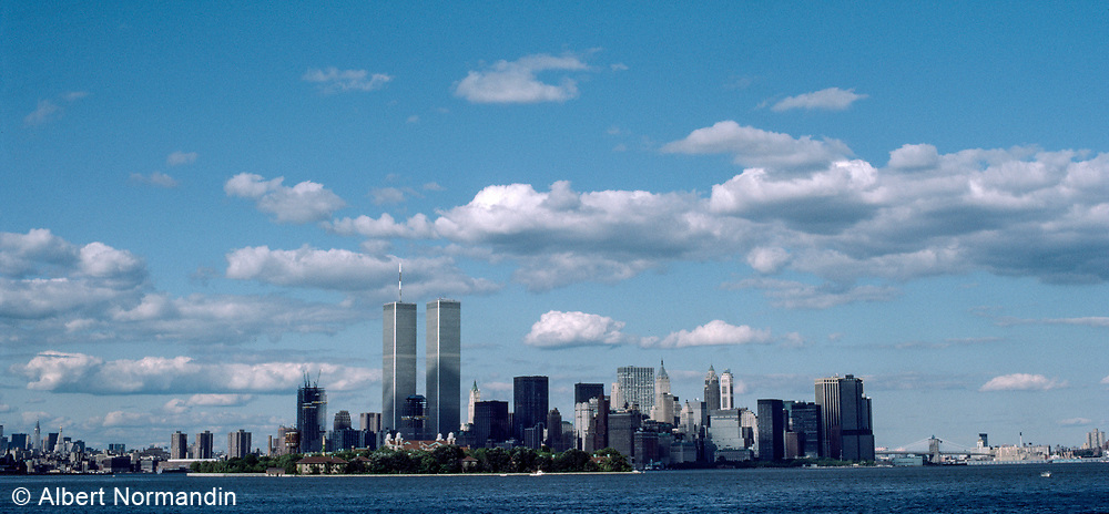 World Trade Center Clouds, New York City, New York, USA, July 1984
