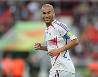 Zinedine Zidane Frankreich<br /> Fussball WM 2006 Achtelfinale Spanien - Frankreich<br /> Spania - Frankrike<br /> Norway only