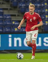 Victor Nelsson (Danmark) under venskabskampen mellem Danmark og Sverige den 11. november 2020 på Brøndby Stadion (Foto: Claus Birch).