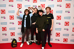 Ratboy (left) and his entourage attending the Stubhub Q Awards 2016, in association with Absolute Radio, at the Roundhouse, London. PRESS ASSOCIATION Photo. Picture date: Wednesday 2 November 2016. Photo credit should read: Ian West/PA Wire.