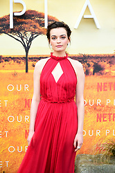 Emma Mackey attending the global premiere of Netflix's Our Planet, held at the Natural History Museum, London.