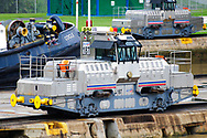 Towing Locomotive at Miraflores Locks in the Panama Canal.