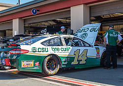 June 22, 2018 - Sonoma, CA, U.S. - SONOMA, CA - JUNE 22: The crew for Clint Bowyer, driving the #(14) Ford for Stewart-Hass Racing preps their car on Friday, June 22, 2018 at the Toyota/Save Mart 350 Practice day at Sonoma Raceway, Sonoma, CA (Photo by Douglas Stringer/Icon Sportswire) (Credit Image: © Douglas Stringer/Icon SMI via ZUMA Press)