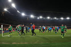 11 March 2017 - The FA Cup - (Sixth Round) - Arsenal v Lincoln City - Lincoln players applaud their fans after the defeat - Photo: Marc Atkins / Offside.