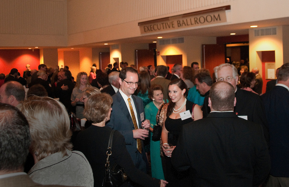 Guests mingle at the annual St. Francis Seminary Dinner, which was held a the Hyatt Regency Hotel in Milwaukee, Friday, Oct. 1, 2010.
