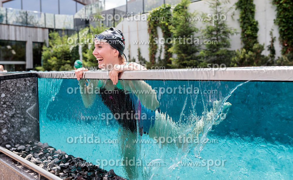 23.06.2017, Hotel Forsthofgut, Leogang, AUT, OeSV, Schwimmtraining Damen Speed Team, im Bild Cornelia Hütter (AUT) // during a swimmtraining of the Austrian Ladies Speed Team at the Hotel Forsthofgut, Leogang, Austria on 2017/06/23. EXPA Pictures © 2017, PhotoCredit: EXPA/ JFK