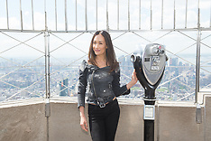 NY: Maggie Q on top of Empire State Building - 9 May 2017