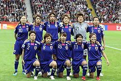 17-07-2011 VOETBAL: FIFA WOMENS WORLDCUP 2011 FINAL JAPAN - USA: FRANKFURT<br /> teamfoto Japan<br /> ***NETHERLANDS ONLY***<br /> ©2011-FRH- NPH/Mueller