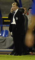 Photo: Richard Lane.<br />Croatia v England. UEFA European Championships 2008 Qualifying. 11/10/2006. <br />England's Head Coach, Steve McClaren looks on at the final whistle.