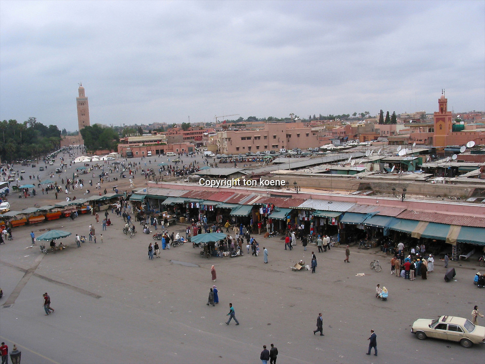 market in Marakesh, Morocco