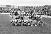 The Kilkenny team before the All Ireland Minor Hurling Final, Tipperary v Kilkenny in Croke Park on the 5th September 1976.