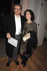 MOLLIE DENT-BROCKLEHURST and her husband DUNCAN WARD at the TOD's Art Plus Film Party 2008 hosted by The Whitechapel Art Gallery at a former church at 1 Marylebone Road, London NW1 on 6th March 2008.<br />