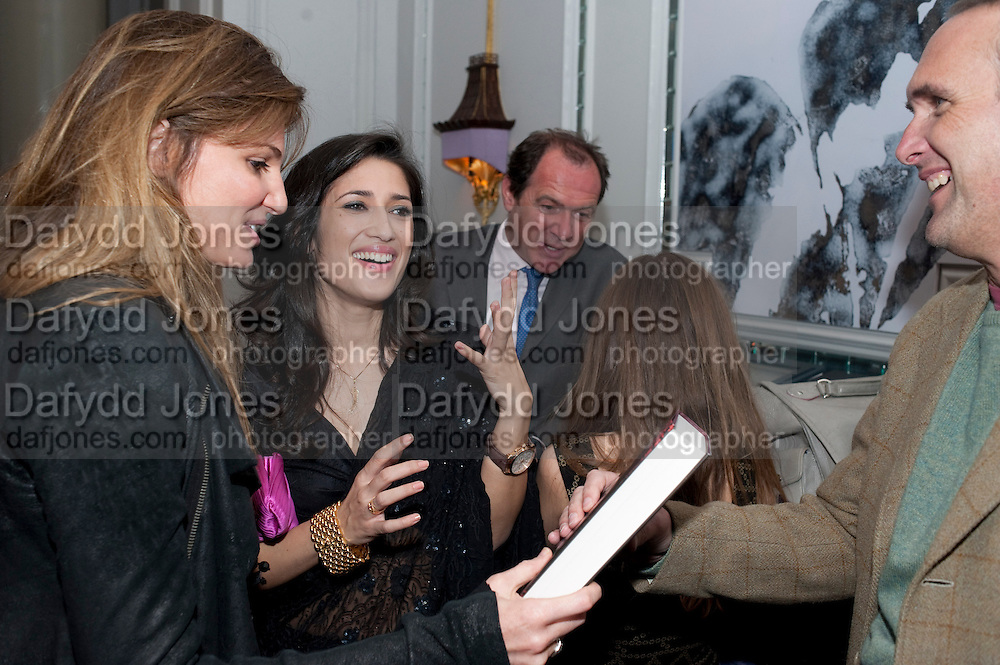 JEMIMA KHAN; FATIMA BHUTTO; A.A. GILL, Henry Porter hosts a launch for Songs of Blood and Sword by Fatima Bhutto. The Artesian at the Langham London. Portland Place. 15 April 2010.  *** Local Caption *** -DO NOT ARCHIVE-© Copyright Photograph by Dafydd Jones. 248 Clapham Rd. London SW9 0PZ. Tel 0207 820 0771. www.dafjones.com.<br /> JEMIMA KHAN; FATIMA BHUTTO; A.A. GILL, Henry Porter hosts a launch for Songs of Blood and Sword by Fatima Bhutto. The Artesian at the Langham London. Portland Place. 15 April 2010.