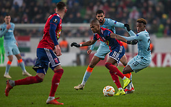 December 13, 2018 - Budapest, Hungary - Loic Nego (L) in action during the UEFA Europa League Group L match between MOL Vidi FC and Chelsea FC at Groupama stadium on Dec 13, 2018 in Budapest, Hungary. (Credit Image: © Robert Szaniszlo/NurPhoto via ZUMA Press)