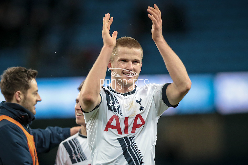 Eric Dier (Tottenham Hotspur) during the Barclays Premier League match between Manchester City and Tottenham Hotspur at the Etihad Stadium, Manchester, England on 14 February 2016. Photo by Mark P Doherty.