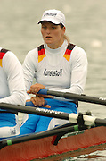 FISA World Cup Rowing Munich Germany..27/05/2004..Thursday morning opening heats...GER W2X. Christiane Huth and [Mandatory Credit: Peter Spurrier: Intersport Images].