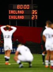 A general view of the scoreboard as Cameron Redpath of England U20 looks on - Mandatory by-line: Ken Sutton/JMP - 01/02/2019 - RUGBY - Irish Independent Park - Cork, Cork - Ireland U20 v England U20 -