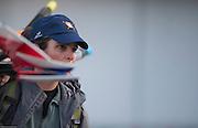Amsterdam. NETHERLANDS. Laurel KORHOLZ, Assistant Women's Coach, USRowing Women's Squad, 2014 FISA  World Rowing. Championships.  De Bosbaan Rowing Course . 07:21:43  Thursday  21/08/2014  [Mandatory Credit; Peter Spurrier/Intersport-images]
