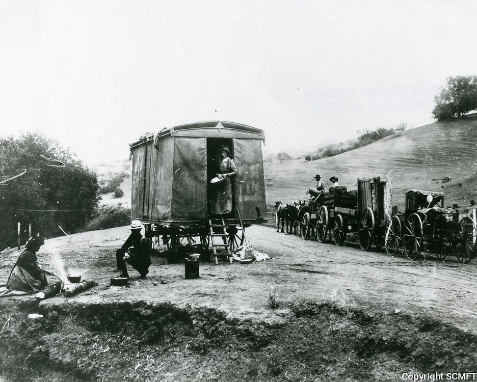 1892 Travelers in the Cahuenga Pass