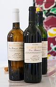 Cuvee Les Terrasses 2003 and 2004. Domaine des Schistes, Estagel, Tautavel. Roussillon. France. Europe. Bottle.