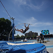 Kelsie Ahba, Canada, in action in the Women's Pole Vault Competition during the Diamond League Adidas Grand Prix at Icahn Stadium, Randall's Island, Manhattan, New York, USA. 13th June 2015. Photo Tim Clayton
