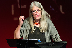 "© Licensed to London News Pictures. 03/03/2017. Professor of Classics at the University of Cambridge MARY BEARD, gives a British Museum lecture ""Women In Power"" looking at the image and reality of women in power, from the myth of matriarchy to Theresa May. London, UK. Photo credit: Ray Tang/LNP"