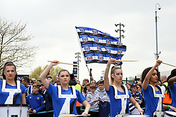 Bath Rugby supporters welcome their team - Mandatory byline: Patrick Khachfe/JMP - 07966 386802 - 06/04/2019 - RUGBY UNION - Twickenham Stadium - London, England - Bath Rugby v Bristol Rugby - The Clash - Gallagher Premiership Rugby