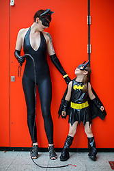 © Licensed to London News Pictures. 30/10/2016. London, UK. Emma Jenkins and Indy Rose-Firth attend the MCM London Comic Con in ExCeL convention centre on Sunday, 30 October 2016. Photo credit: Tolga Akmen/LNP