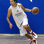 Anadolu Efes's Sasha VUJACIC during their friendly basketball match Anadolu Efes between Mersin Buyuksehir Belediyespor at Anadolu Efes Arena in Istanbul, Turkey, Tuesday, September 13, 2010. Photo by TURKPIX