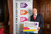 Stephen Pound MP supporting the Enough Food for Everyone?IF campaign. .MP's and Peers attended the parliamentary launch of the IF campaign in the State Rooms of Speakers House, Palace of Westminster. London, UK.