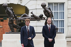 The Duke of Cambridge and Prince Harry  at the Help For Heroes Recovery Centre in Tidworth, Wiltshire, Monday, 20th May 2013 Picture by:  Stephen Lock / i-Images