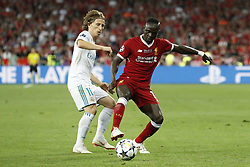 (L-R) Luka Modric of Real Madrid, Sadio Mane of Liverpool FC during the UEFA Champions League final between Real Madrid and Liverpool on May 26, 2018 at NSC Olimpiyskiy Stadium in Kyiv, Ukraine