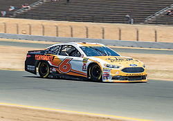 June 22, 2018 - Sonoma, CA, U.S. - SONOMA, CA - JUNE 22:  Matt Kenseth, driving the #(6) Ford for Roush Fenway Racing negotiates turn 10 on Friday, June 22, 2018 at the Toyota/Save Mart 350 Practice day at Sonoma Raceway, Sonoma, CA (Photo by Douglas Stringer/Icon Sportswire) (Credit Image: © Douglas Stringer/Icon SMI via ZUMA Press)