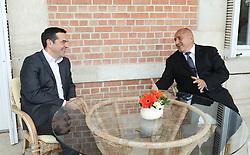 November 2, 2018 - Varna, Bulgaria - Greek prime minister Alexis Tsipras, (L) and the Bulgarian Prime Minister, Boyko Borisov, (R) during Quadrilateral high level meeting between Bulgaria-Greece-Romania-Serbia in Euxinograd Residence in Varna, Bulgaria on November 02, 2018. Picture by: (GIS)GOVERNMENTAL INFORMATIONAL SERVICE, BULGARIA  (Credit Image: © Hristo Rusev/NurPhoto via ZUMA Press)