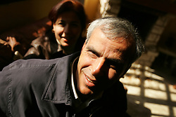 Razi Abu Jayab, and his wife Nihad, are seen inside their home in Gaza, Palestinian Territories, Feb. 7, 2005. Razi and Nihad are part of the Palestinian middle and upper class who are likely to have prominent roles in the developing peace process.